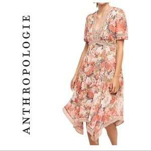Anthropologie Ranna Gill Rose Bouquet dress
